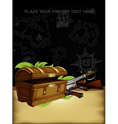 Ornate frame with chest and arms vector