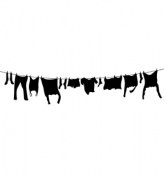 washing lines vector image
