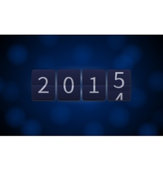 Happy new year 2015 digital clock light effects vector