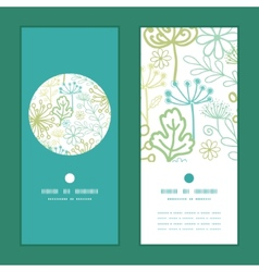 Mysterious green garden vertical round vector