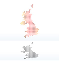 Map - united kingdom of great britain and northern vector