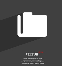 Document folder icon symbol flat modern web design vector