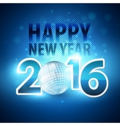 Happy new year 2016 colorful disco lights vector