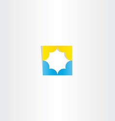 Abstract blue yellow business star logo vector