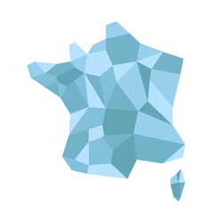 Map france low poly vector
