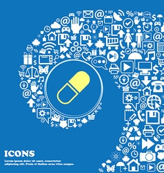 Pill icon nice set of beautiful icons twisted vector