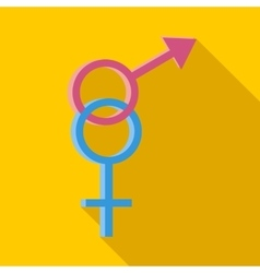 Male and female symbols icon flat style vector