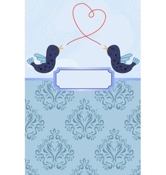 card with birds vector image