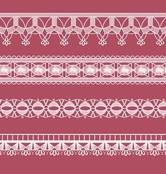Abstract ribbon lace imitating crochet vector