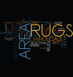 Area rugs wholesalers text background word cloud vector