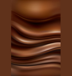 Background with flowing hot chocolate vector