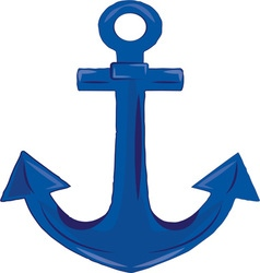 Boat anchor vector