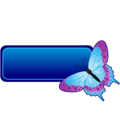 butterfly banner vector image vector image