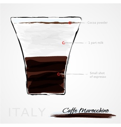 coffee cafe marocchino vector image