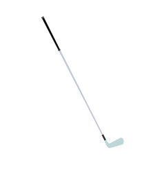golf club isolated iron white ball equipment vector image