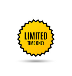 Limited time symbol special offer sign vector