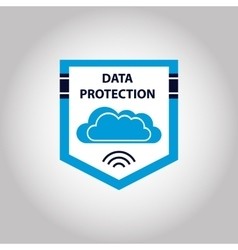 Logo cloud data protection information vector