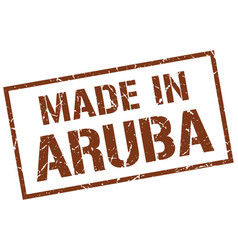Made in aruba stamp vector