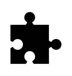 puzzle pieces isolated icon design vector image vector image