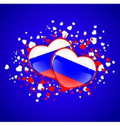 Russian federation two hearts vector