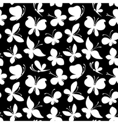 Seamless pattern of white silhouettes of vector image
