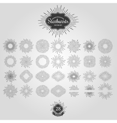Set of starbursts for vintage logos vector image