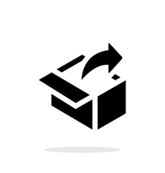 Share from box simple icon on white background vector image