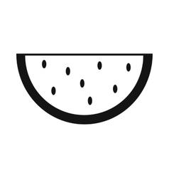 Slice of watermelon simple icon vector image vector image