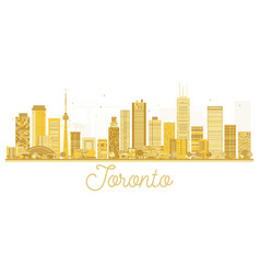 Toronto canada city skyline golden silhouette vector