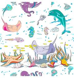 Underwater pattern vector