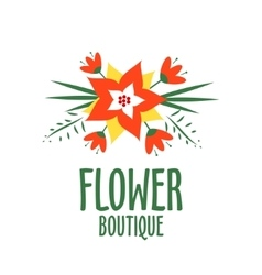 Vecror logo for a flower shop bright bouquet vector