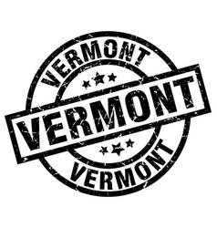Vermont black round grunge stamp vector