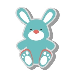 Teddy bunny toy icon vector