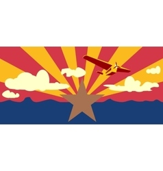 Arizona state flag elements vector