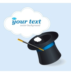 Magic hat and text vector