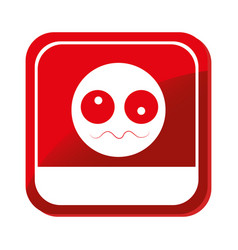 sick face emoticon icon vector image