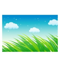 Lush grass fields vector