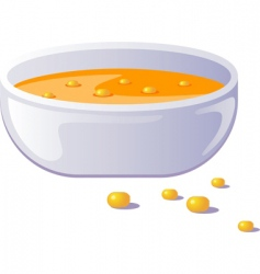 hot soup vector image