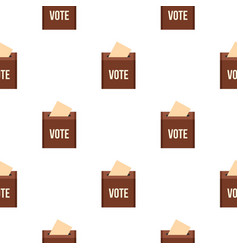 Brown ballot box for collecting votes pattern flat vector