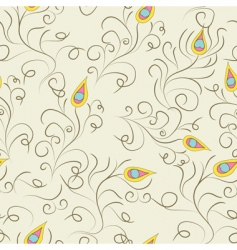 Stylized seamless pattern vector