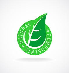 Natural leaf badge for package design vector