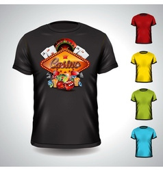 T-shirt set on a casino holiday theme vector