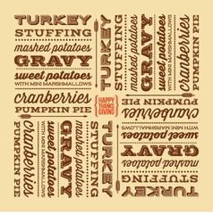 Thanksgiving greeting card with retro fonts vector