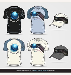 Corporate Identity Business Set T-shirt and cap vector image