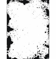 grunge texture with ink spots vector image