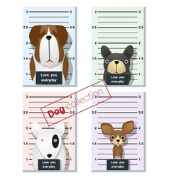 Mugshot of cute dogs holding a banner 1 vector