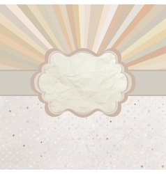 Vintage sunburst card vector