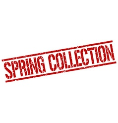 Spring collection stamp vector