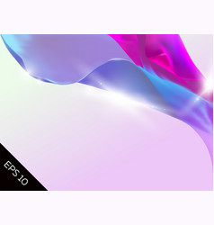 Abstract with magic tender background flying silk vector