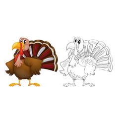 Animal outline for turkey vector